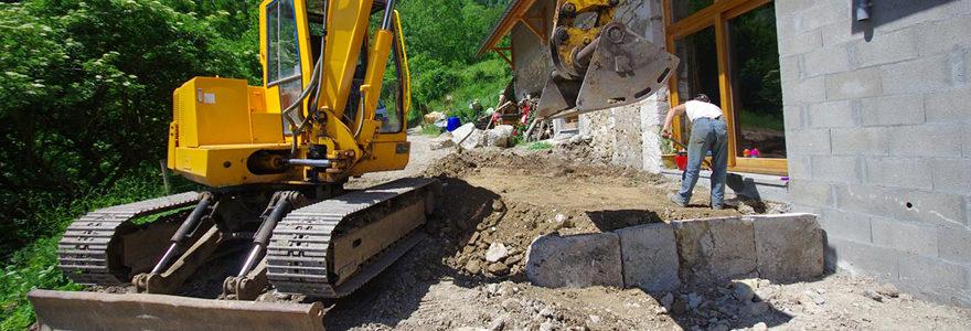Travaux de terrassement et maçonnerie